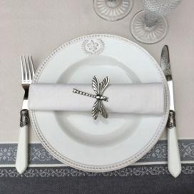 """Serviette de table en coton """"Coucke"""" crème"""