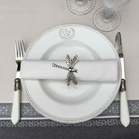 "Cotton table napkin ""Coucke"", plain ""Crème"""