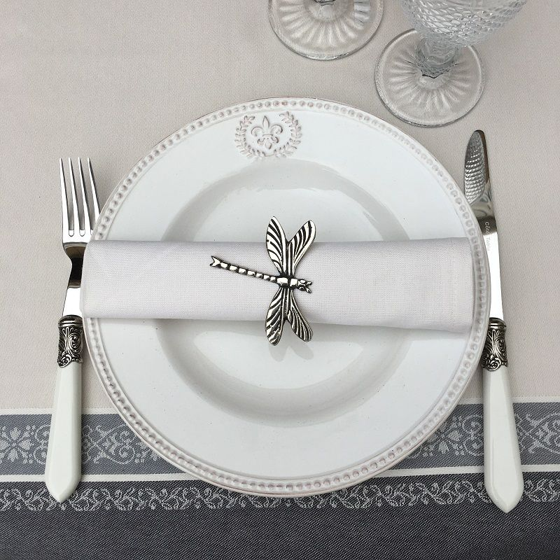 """Serviette de table en coton uni """"Crème"""""""