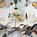 "Tessitura Toscana Telerie, nappe carrée en lin ""Barnum"""