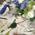 "Tessitura Toscana Tellerie, square linen tablecloth ""Ibisco"""