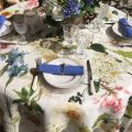 "Tessitura Toscana Tellerie, square linen tablecloth ""Ibisco"""