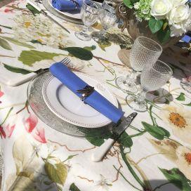 "Tessitura Toscana Telerie, nappe ronde en lin  ""Ibisco"""