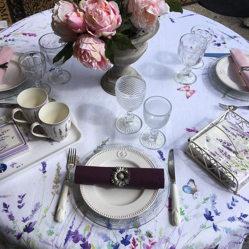 "Tessitura Toscana Tellerie, square linen tablecloth ""Spigo"""