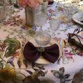 "Tessitura Toscana Tellerie, round linen tablecloth ""Semiramide"""""