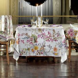 "Tessitura Toscana Tellerie, square linen tablecloth ""Semiramide"""""