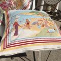 "Provence Jacquard cushion cover, ""Nice"" from Tissus Toselli in Nice"