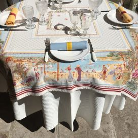 "Rectangular Jacquard tablecloth  ""Nice"", Marat d'Avignon"
