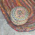 Colored jute and cotton beanbag
