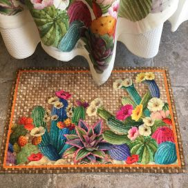 "Tiptap rug ""Kaktus"" by Tessitura Toscana Telerie"