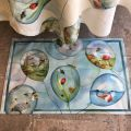 "Tiptap rug ""Balloons"" by Tessitura Toscana Telerie"