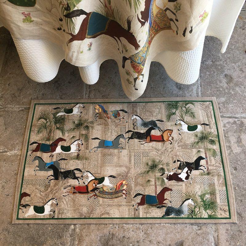 "Tiptap rug ""Sultana"" by Tessitura Toscana Telerie"