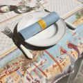 """Square Jacquard webbed tablecloth  """"Nice"""", TISSUS TOSELLI, Nice"""