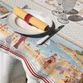 "Nappe carrée Jacquard ""Nice"", Tissus Toselli"