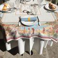"""Square Jacquard tablecloth  """"Nice"""", Marat d'Avignon"""
