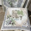 "Provence Jacquard cushion cover, ""Riviera"" from Tissus Toselli in Nice"