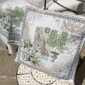 """Provence Jacquard cushion cover, """"Riviera"""" from Tissus Toselli in Nice"""