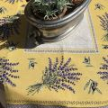 "Webbed square table mats  lavandes et olives ""Castillon"" yellow"