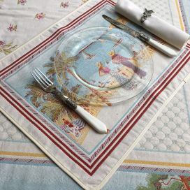 "Provence Jacquard placemat, Côte d'Azur ""Nice"" from Tissus Toselli in Nice"