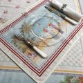 """Provence Jacquard placemat, Côte d'Azur """"Nice"""" from Tissus Toselli in Nice"""