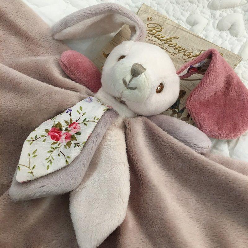 "Peluches Bukowski - Doudou lapine ""Bibi baby rug"""