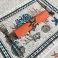 "Provence Jacquard placemat ""Bonifaccio"" ecru from Tissus Toselli in Nice"
