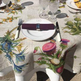 "Tessitura Toscana Tellerie, rectangular linen tablecloth ""Cynar"""