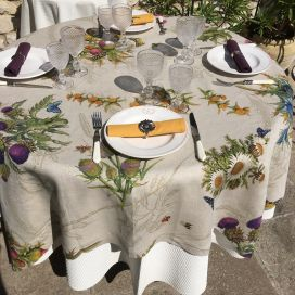 "Tessitura Toscana Tellerie, square linen tablecloth ""Cynar"""
