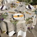 "Tessitura Toscana Telerie, nappe carrée en lin ""Cynar"""