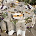 "Tessitura Toscana Tellerie, square linen tablecloth ""Cynar"""