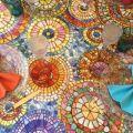 "Tessitura Toscana Tellerie, round coton tablecloth ""Monreale"""