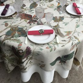 """Tessitura Toscana Telerie, nappe carrée en lin """"Bubu"""""""