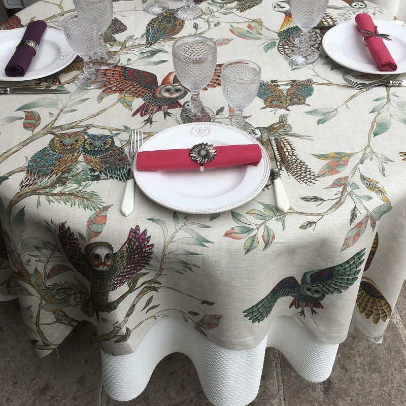 "Tessitura Toscana Tellerie, square linen tablecloth ""Bubu"""