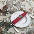 "Tessitura Toscana Tellerie, round linen tablecloth ""Bubu"""