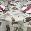 "Tessitura Toscana Telerie, nappe ronde en lin ""Bubu"""