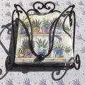 "Paper napkins holder ""Antic"" metal and hearts"