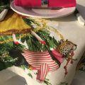"Tessitura Toscana Telerie, linen tablecloth ""Magic Tree"""