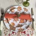 "Michel Design Works - ""Holidays Treats"" Melamine Casual dinner plate"