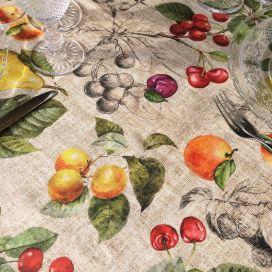 "Rectangular coated cotton tablecloth ""Juno"""