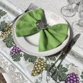 """Nappe carrée Jacquard raisins """"Vignobles"""" Tissus Toselli"""