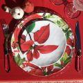 "Michel Design Works ""Poinsettia"" Accent plate set"