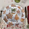 "Michel Design Works, lot de 4 petites assiettes ""Holidays Treats"""