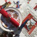 "Tessitura Toscana Telerie, nappe rectangulaire en coton ""Snowy Christmas"""