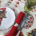 "Tessitura Toscana Tellerie, rectangular coton tablecloth ""Sphères magiques"""