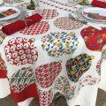 """Tessitura Toscana Telerie, nappe carrée en coton """"Sphères Magiques"""""""