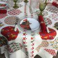 "Tessitura Toscana Tellerie, square coton tablecloth ""Sphères magiques"""