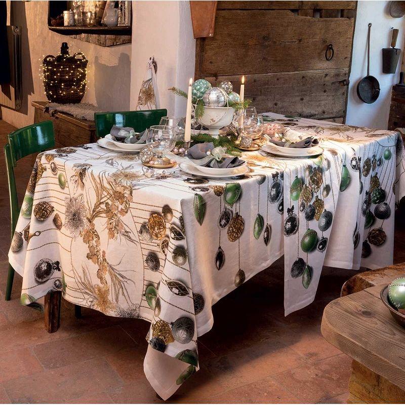 """Tessitura Toscana Telerie, rectangular linen tablecloth """"Glitter"""""""