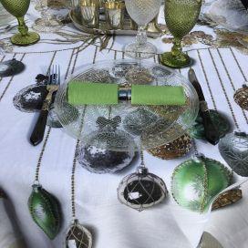 "Tessitura Toscana Telerie, nappe carrée en lin ""Glitter"""