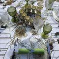 "Tessitura Toscana Telerie, nappe rectangulaire en lin ""Glitter"""