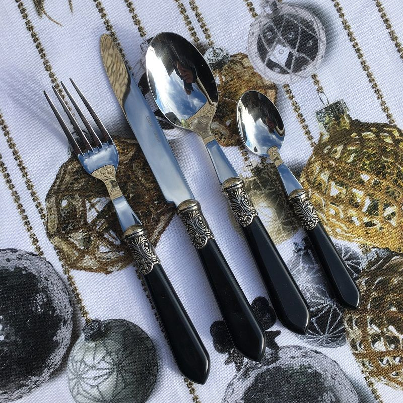 "Cutlery Set (48 pieces) ""Baroque"" black, from ""Côté Table"""